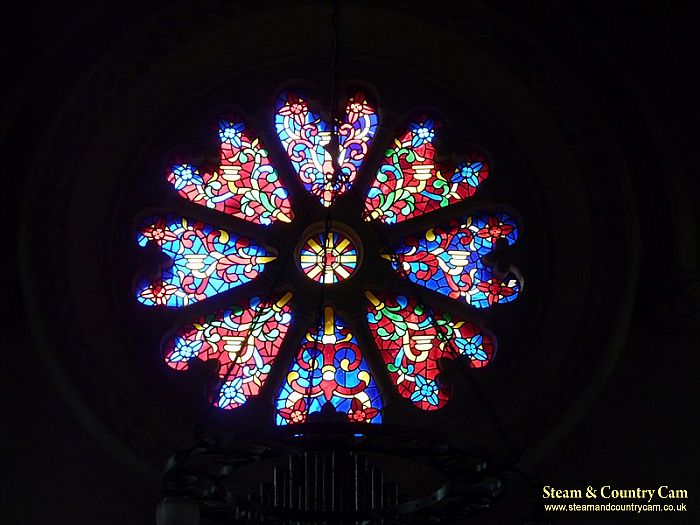 The stain glass window