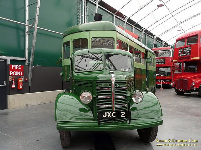 The Scammell and buses
