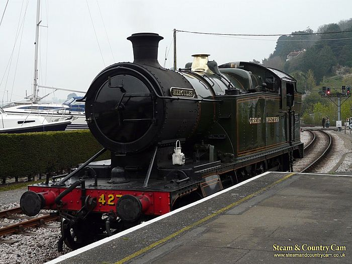 In the station at Kingswear