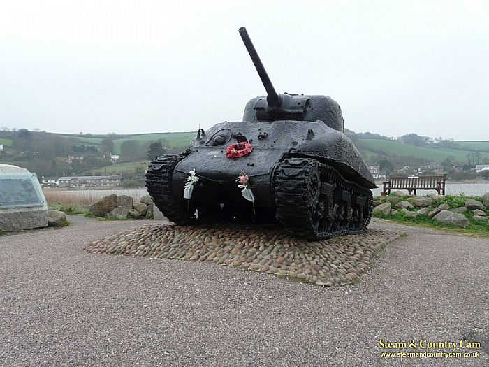 Sharman Tank at Slapton Sands, Torcross