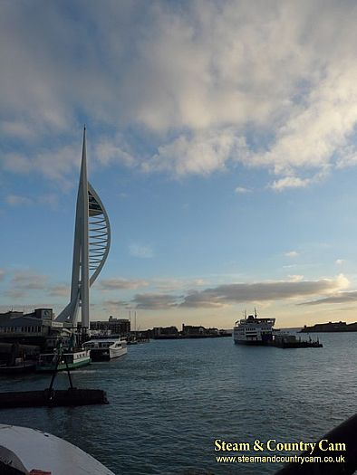 Spinaker Tower and a IOW ferry