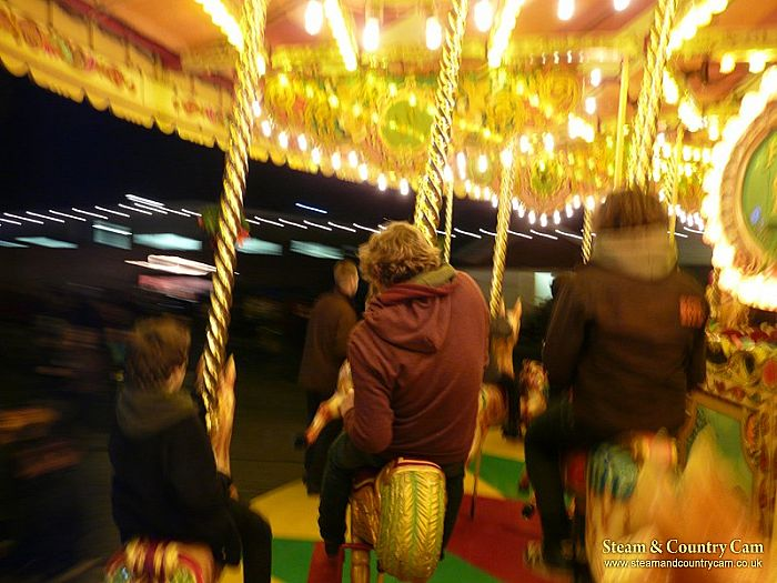 Riding on the gallopers