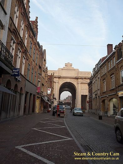 Looking towards the Menin Gate