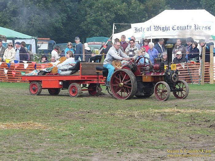 Miniature Burrell traction engine