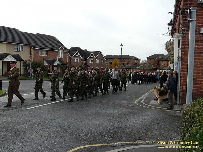 The march through the village of Liss.